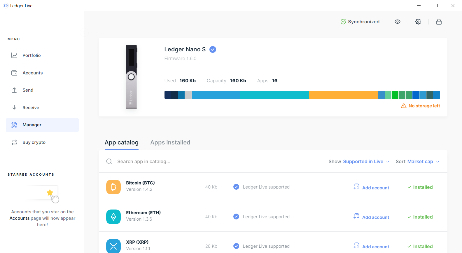 what cryptocurrencies can be stored on ledger nano s