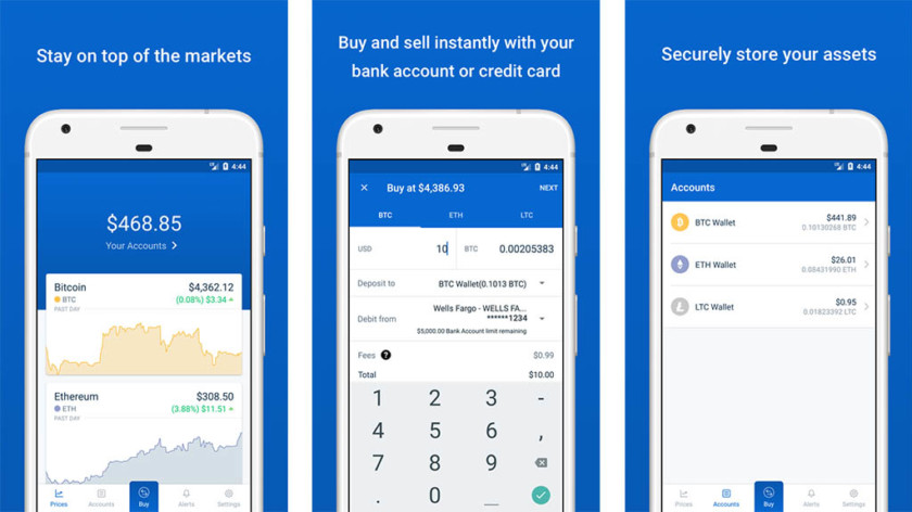 coinbase app screenshot