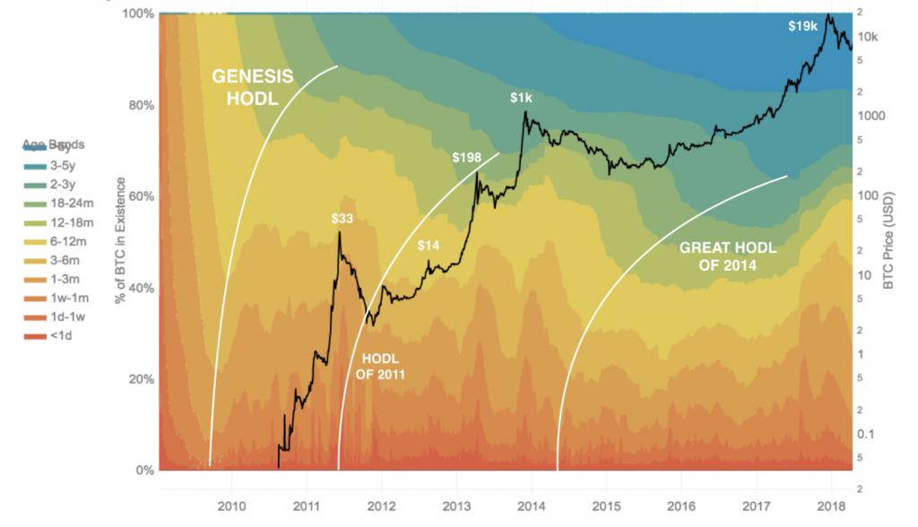 Historical HODLing Bitcoin | Coinzodiac.com