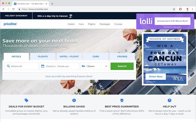 Lolli Priceline | coinzodiac.com