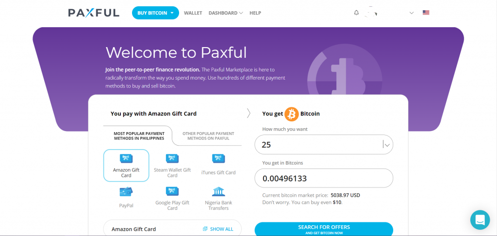 buy bitcoin with paypal, amazon gift cards