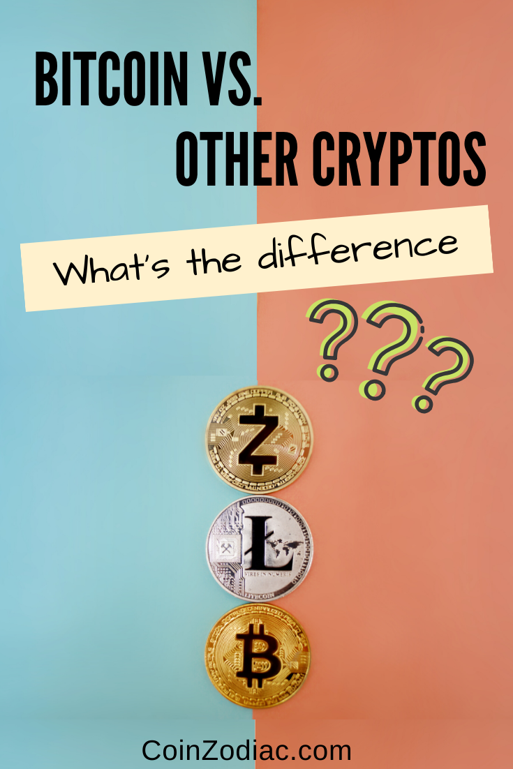Bitcoin vs other cryptocurrencies. coinzodiac