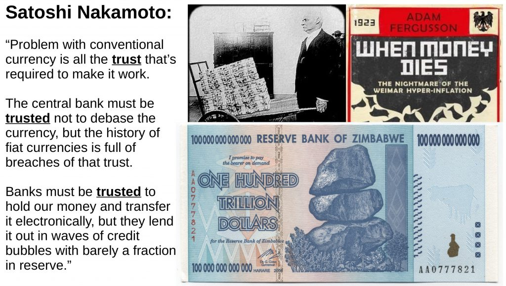 trust is required for fiat money